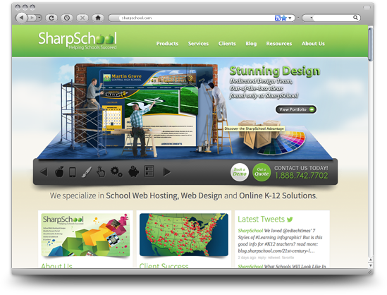A new SharpSchool website means a fresh look for 2013!